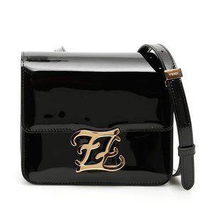 FENDI 'Karligraphy' Patent 'FF' Logo Shoulder Bag